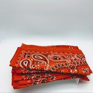 Orange Bandanas (Bundle of 10) - wearable art